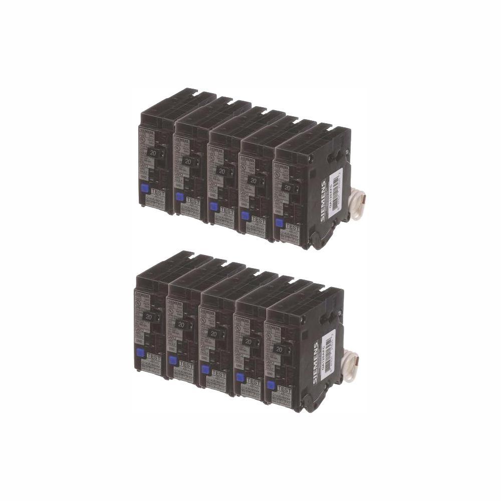 20 Amp Single Pole Combination AFCI Circuit Breakers (10-Pack)
