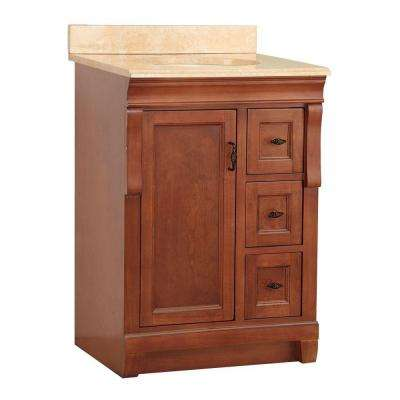 Naples 25 in. W x 22 in. D Vanity in Warm Cinnamon with Vanity Top and Stone Effects in Oasis