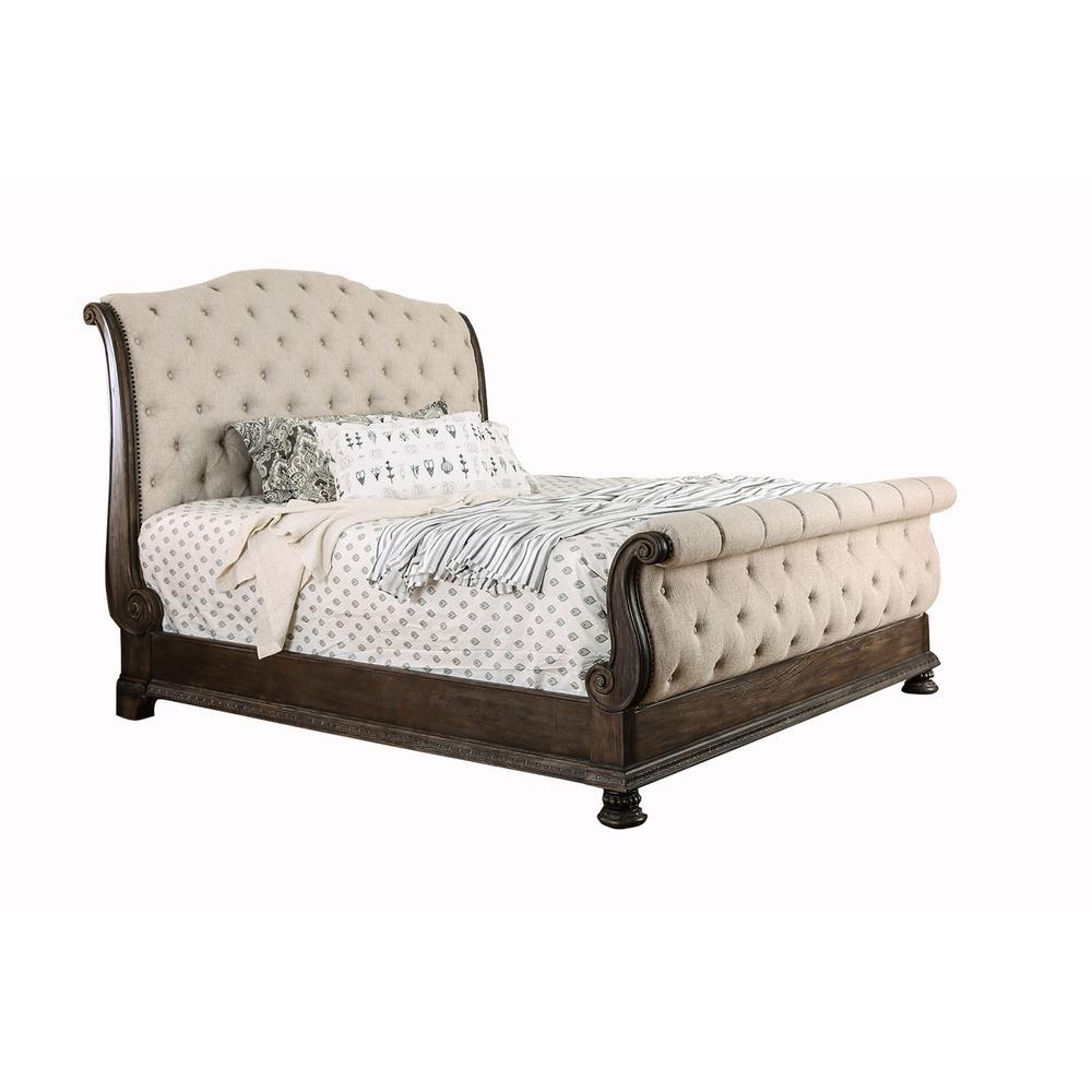 Lysandra Rustic Natural Tone California King Bed