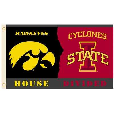 NCAA 3 ft. x 5 ft. Rivalry House Divided Flag - Iowa/Iowa State