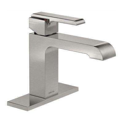 Ara Single Hole Single-Handle Bathroom Faucet in Stainless