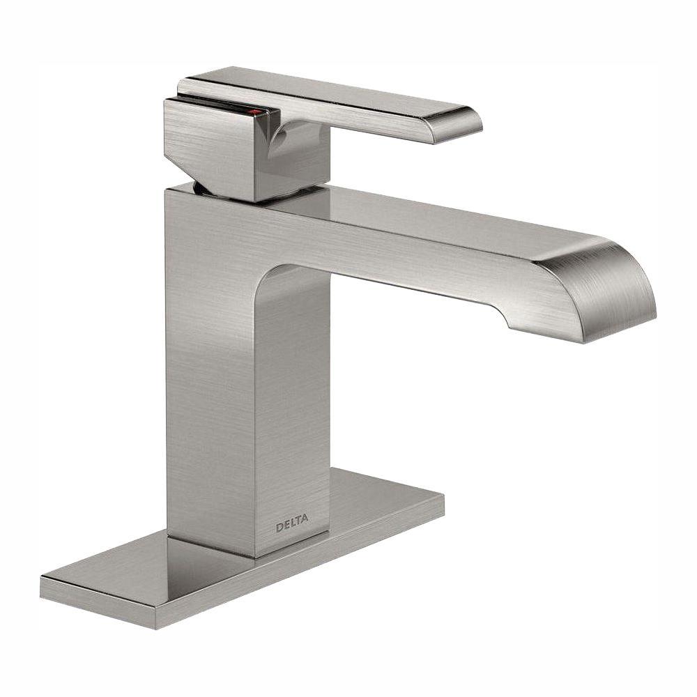 Ara Single Hole Single-Handle Bathroom Faucet in Stainless