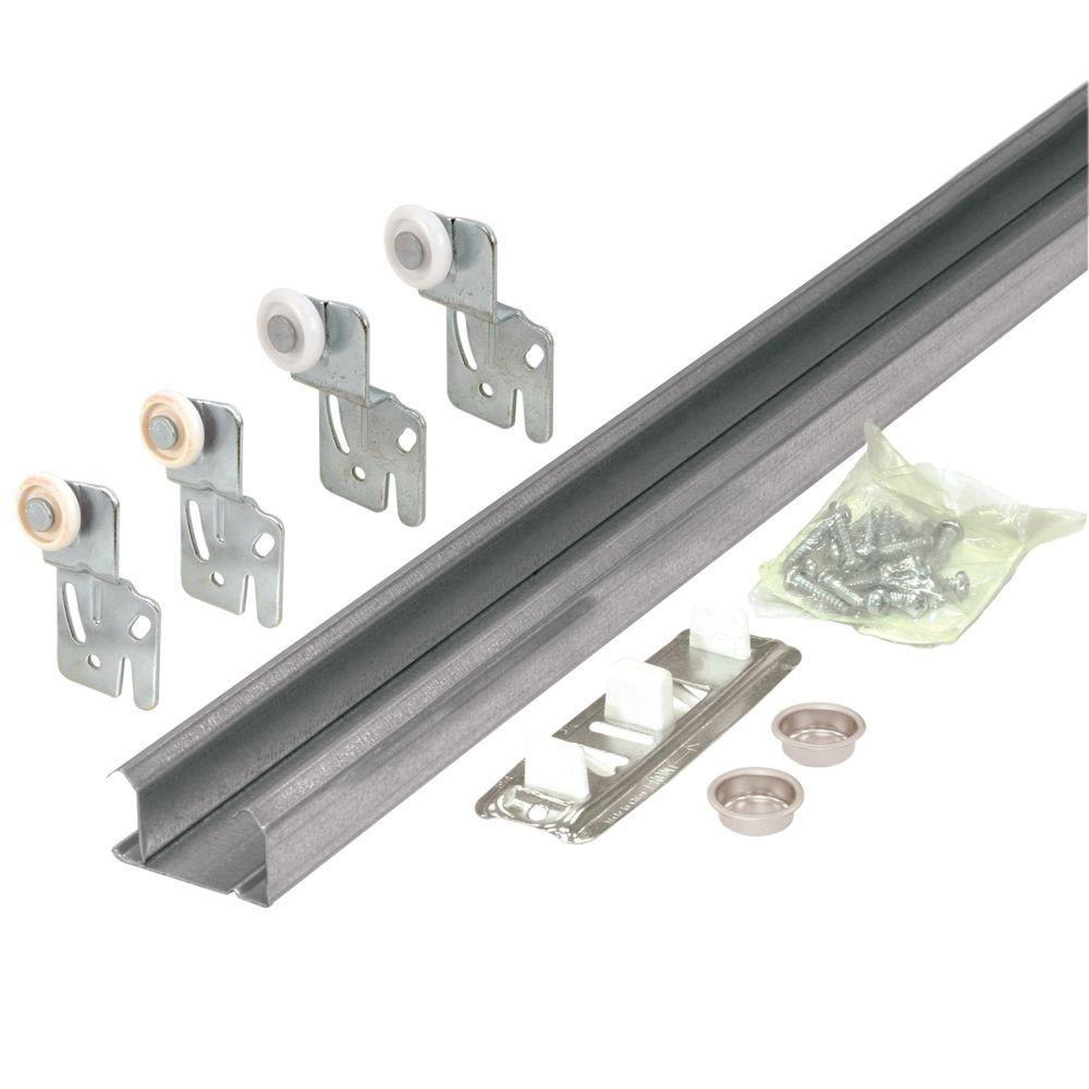 Prime-Line 60 in. 2 Door Hardware Pack Bypass Closet Track Kit-DISCONTINUED