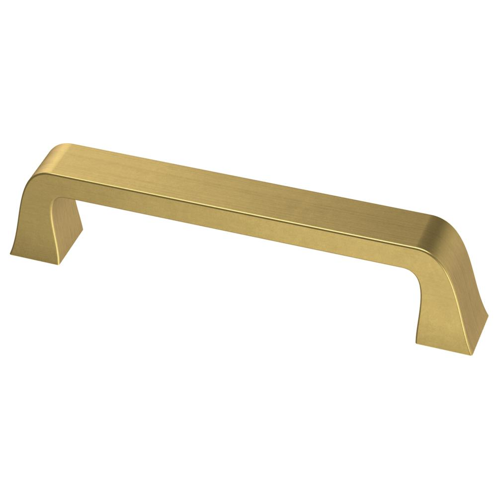 Classic Bell 3-3/4 in. (96 mm) Brushed Brass Cabinet Drawer Pull