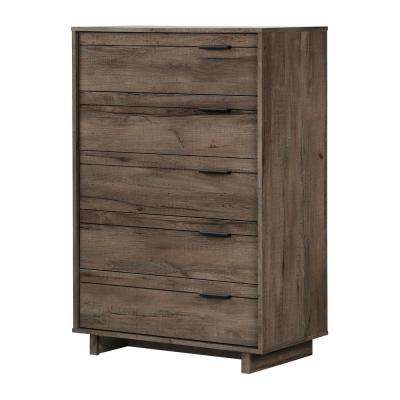 Fynn 5-Drawer Fall Oak Chest