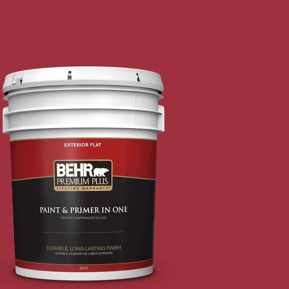 5-gal. #S-G-150 Ruby Ring Flat Exterior Paint