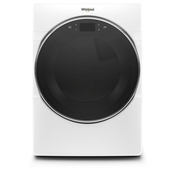 7.4 cu. ft. 240 Volt White Stackable Smart Electric Vented Dryer with Remote Start, ENERGY STAR