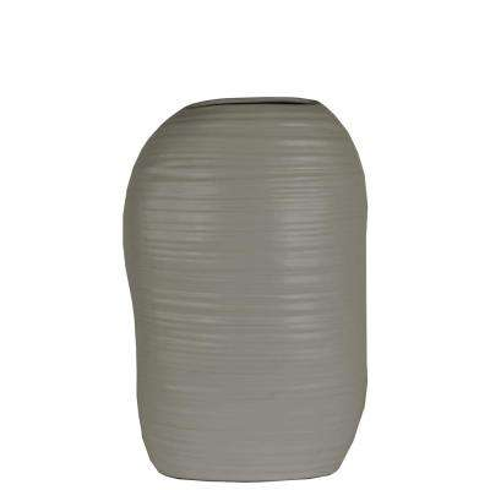 Gray Coated Ceramic Decorative Vase