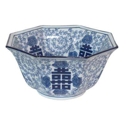 Blue and White Ceramic Bowl