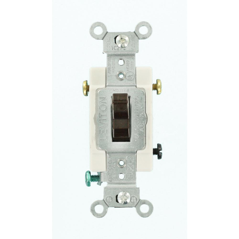 Leviton 15 Amp Commercial Grade Double-pole Toggle Switch  Brown-cs215-2