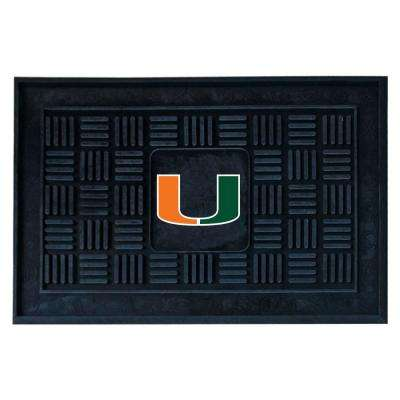 University of Miami 18 in. x 30 in. Door Mat