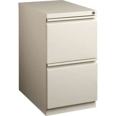 2-Drawer Putty Mobile File Pedestal with Security Lock