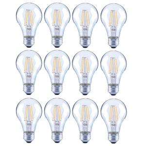 12-Pack Lighting Science Dimmable 40W Clear Glass Filament LED Light Bulbs