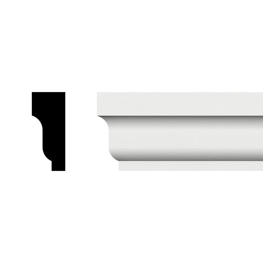 1-5/8 in. x 5/8 in. x 96 in. Shingle Moulding, PVC (2-Pack)