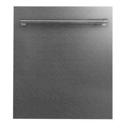 24 in. Top Control Dishwasher in Snow Finished Stainless Steel with Stainless Steel Tub and Traditional Style Handle
