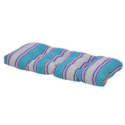 Seaglass Stripe Rectangular Outdoor Bench Cushion