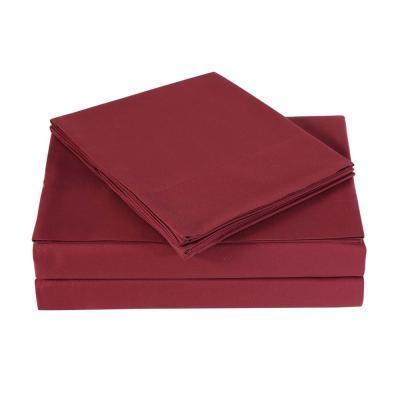 Everyday Burgundy Twin XL Sheet Set