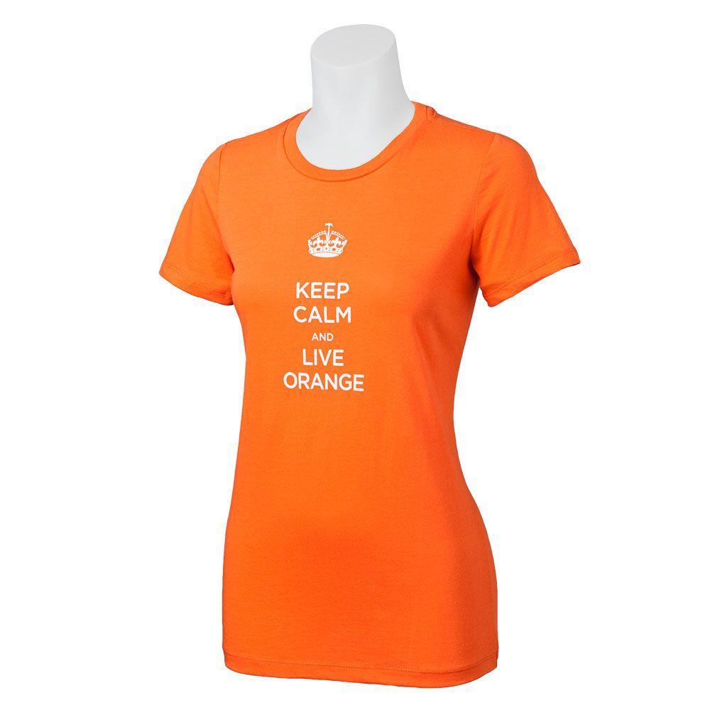 The Home Depot Ladies' Orange XL Keep Calm Cotton T-Shirt