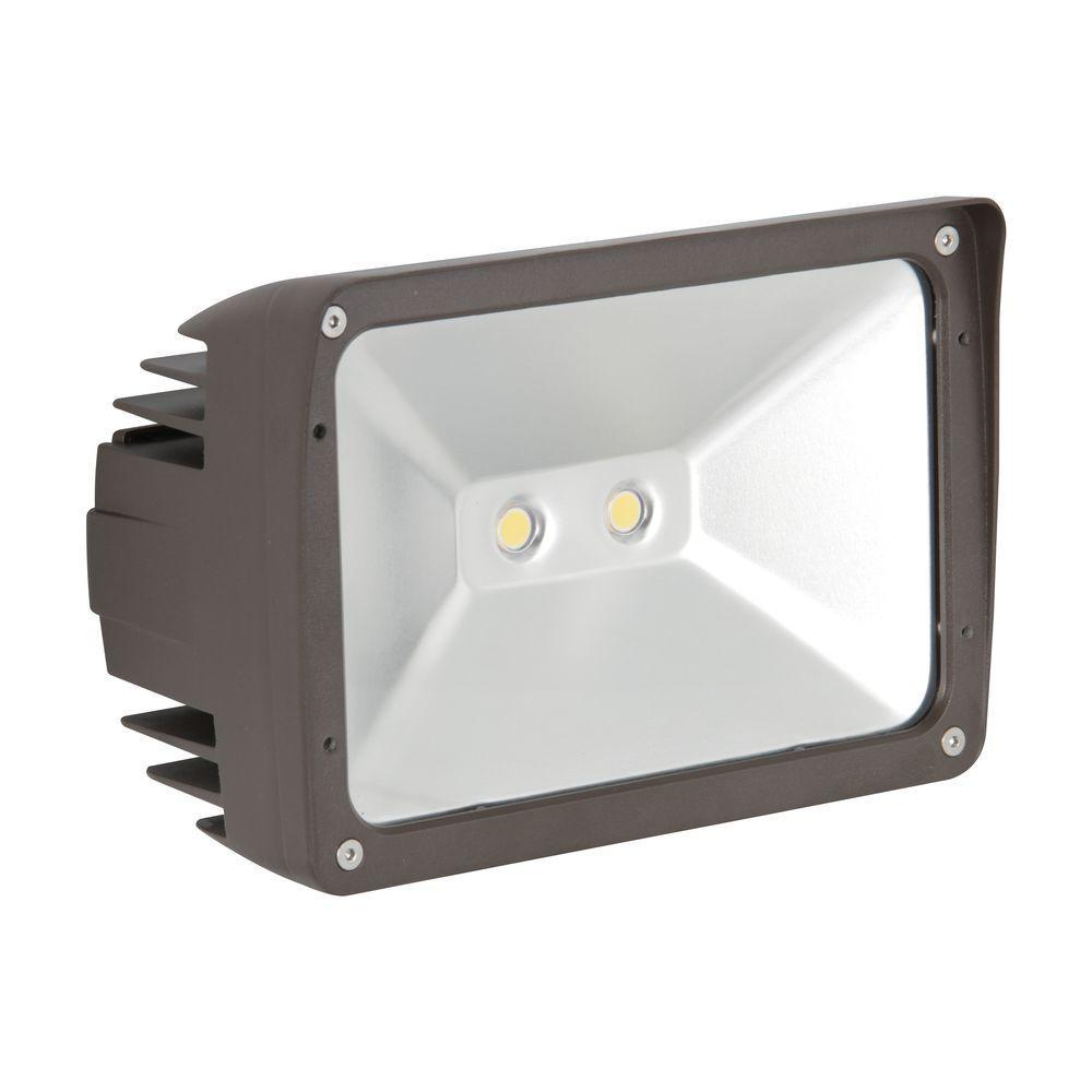 ADL Lumin 30-Watt Bronze Outdoor LED Flood Light
