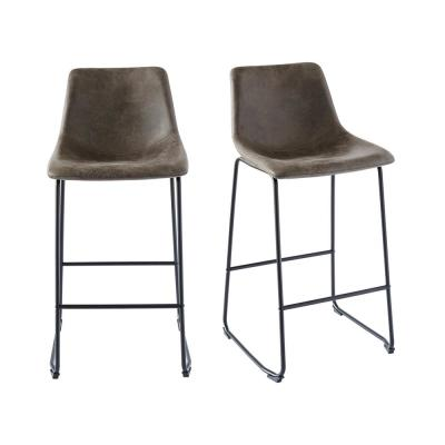 Collins 29 in. Brown Bar Stool (Set of 2)