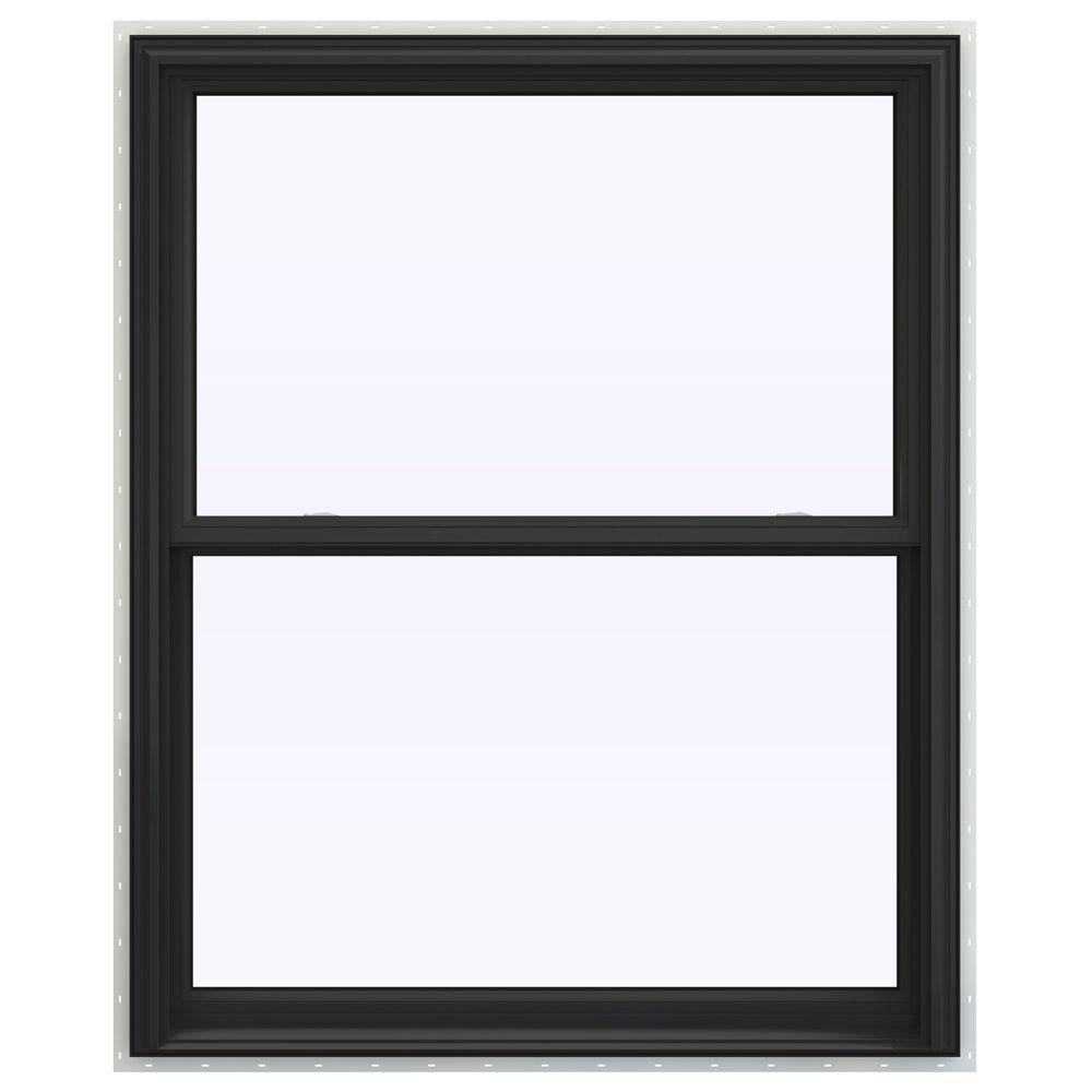 JELD-WEN 43.5 in. x 59.5 in. V-2500 Series Double Hung Vinyl Window - Bronze