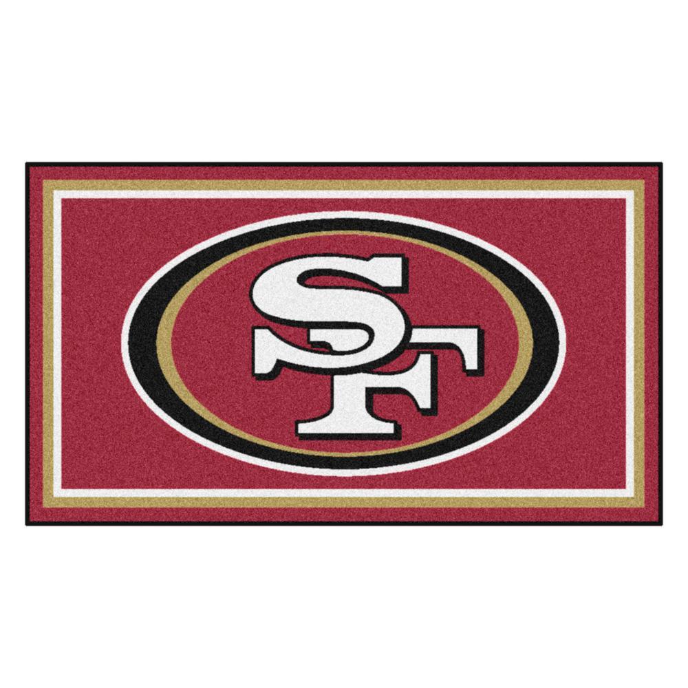 NFL - San Francisco 49ers 3 ft. x 5 ft. Ultra Plush Area Rug