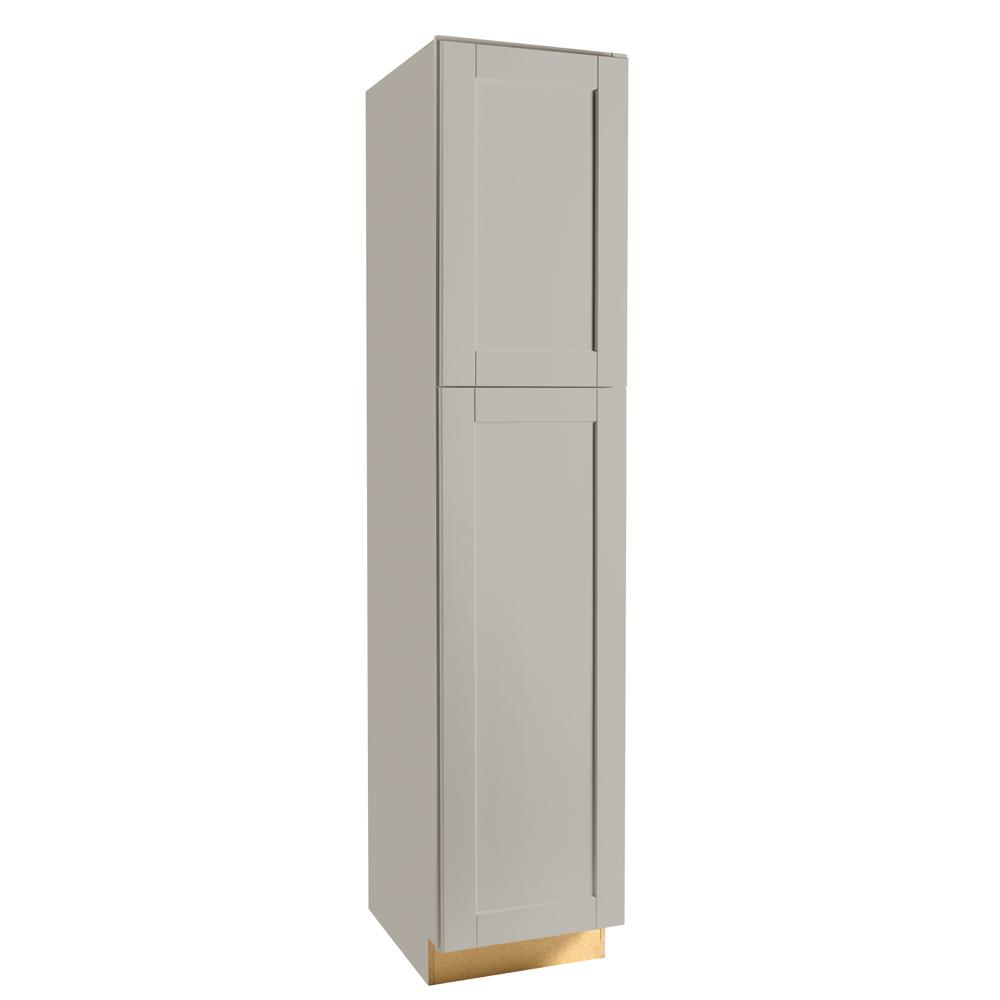 Hampton Bay Shaker Assembled 18 X 84 X 24 In Pantry Utility Kitchen Cabinet In Dove Gray Kp1884