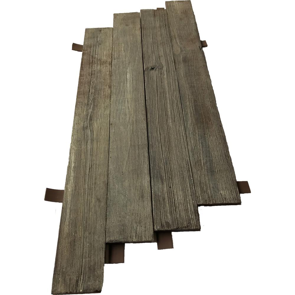 3D Barn Wood 28 in. x 11 in. Reclaimed Wood Decorative