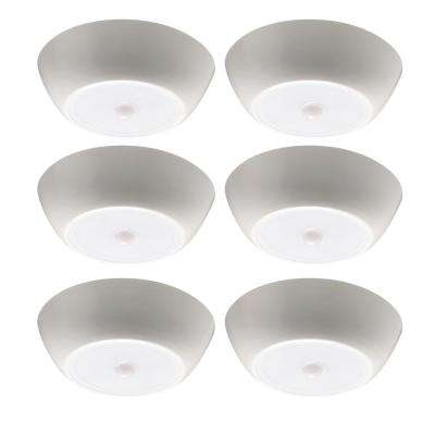 UltraBright Motion Activated 300-Lumen Battery Operated LED Ceiling Light (6-Pack)