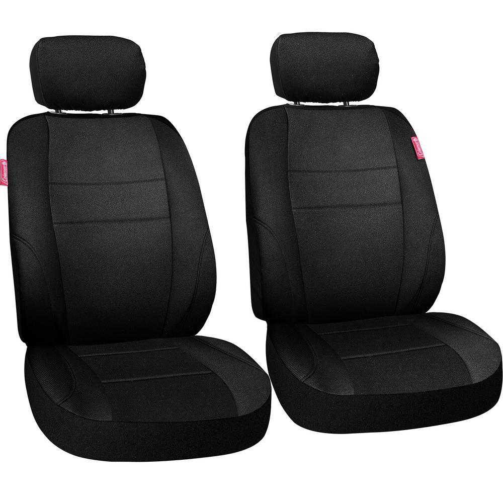 Journeyman Class Poly Flat Cloth 26 in. L x 30.7 in. W x 22.4 in. H Seat Cover Set in Black