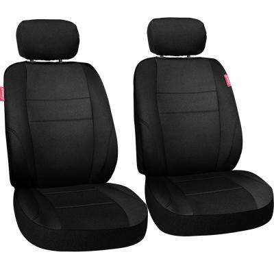 Journeyman Class Poly Flat Cloth 26 in. L x 30.7 in. W x 22.4 in. H Seat Cover Set in Black