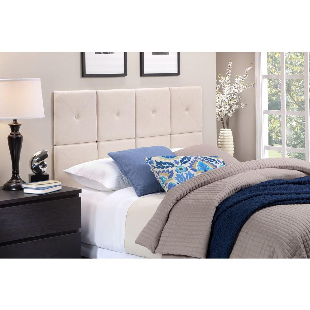 Foremost tessa natural linen king headboard tht 61013 fb for Foremost homes