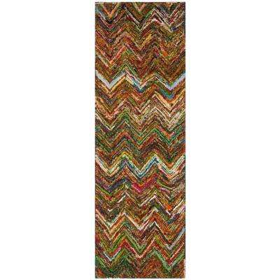 Nantucket Red/Blue/Multi 2 ft. x 12 ft. Runner Rug