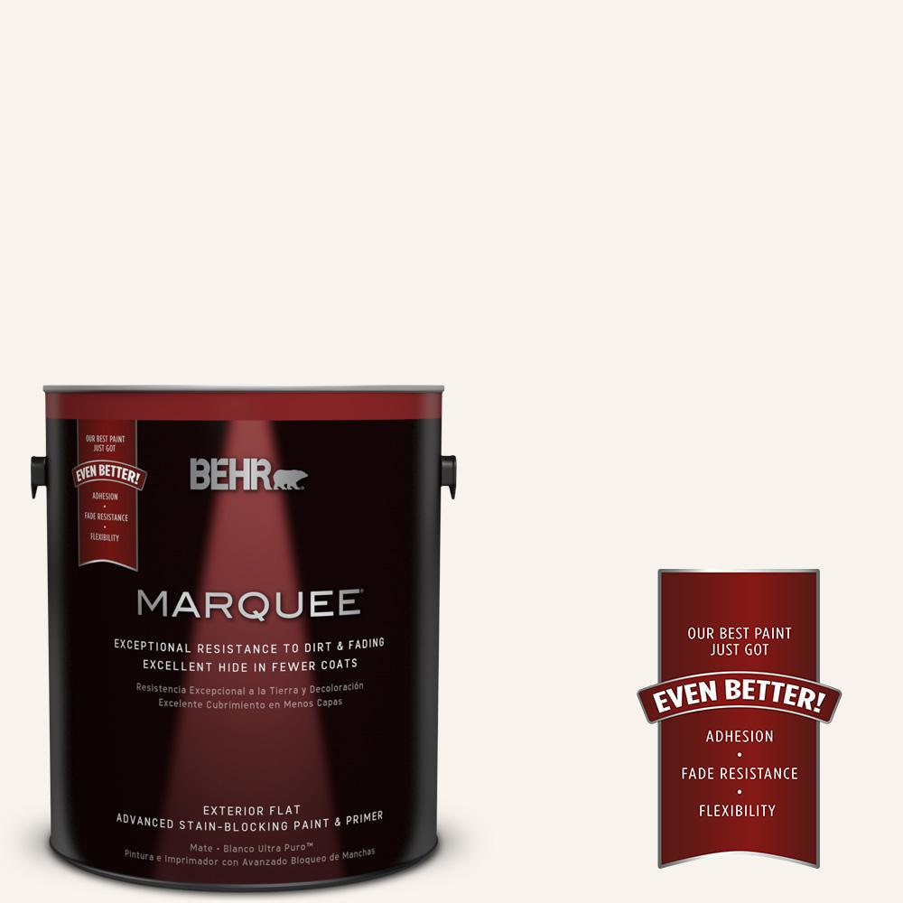 1-gal. #W-D-700 Powdered Snow Flat Exterior Paint