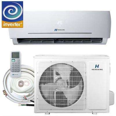 12,000 BTU 1.0 Ton 208/230V Ductless Mini Split Air Conditioner - Inverter, Heat Pump, Remote and 16 ft. Copper Line Set
