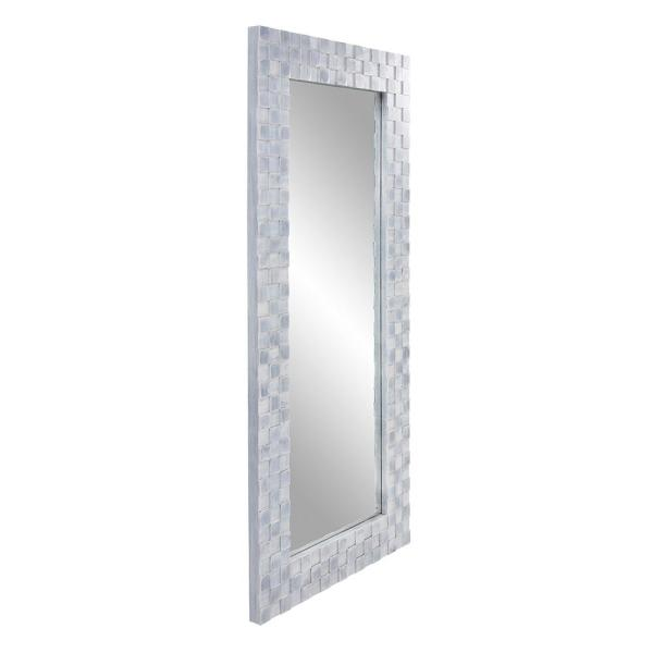 Howard Elliott Collection Oversized Rectangle Blue Gray Wash Beveled Glass Casual Mirror 75 In H X 35 In W 14320 The Home Depot