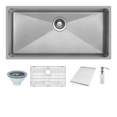 Undermount Stainless Steel 33 in. Single Bowl Kitchen Sink