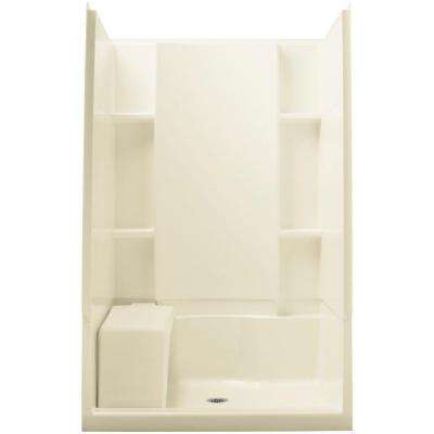 Accord 36 in. x 48 in. x 74.75 in. Shower Kit in Biscuit with Backer Boards