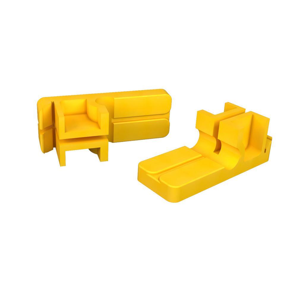 3-1/2 in. x 1-1/4 in. Tenite Plastic Mason Line Blocks (Pair)