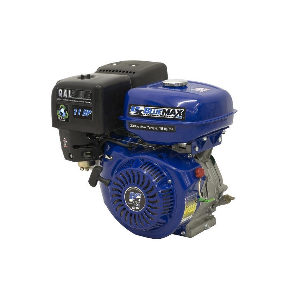 Blue max 11 hp ohv recoil start horizontal shaft engine