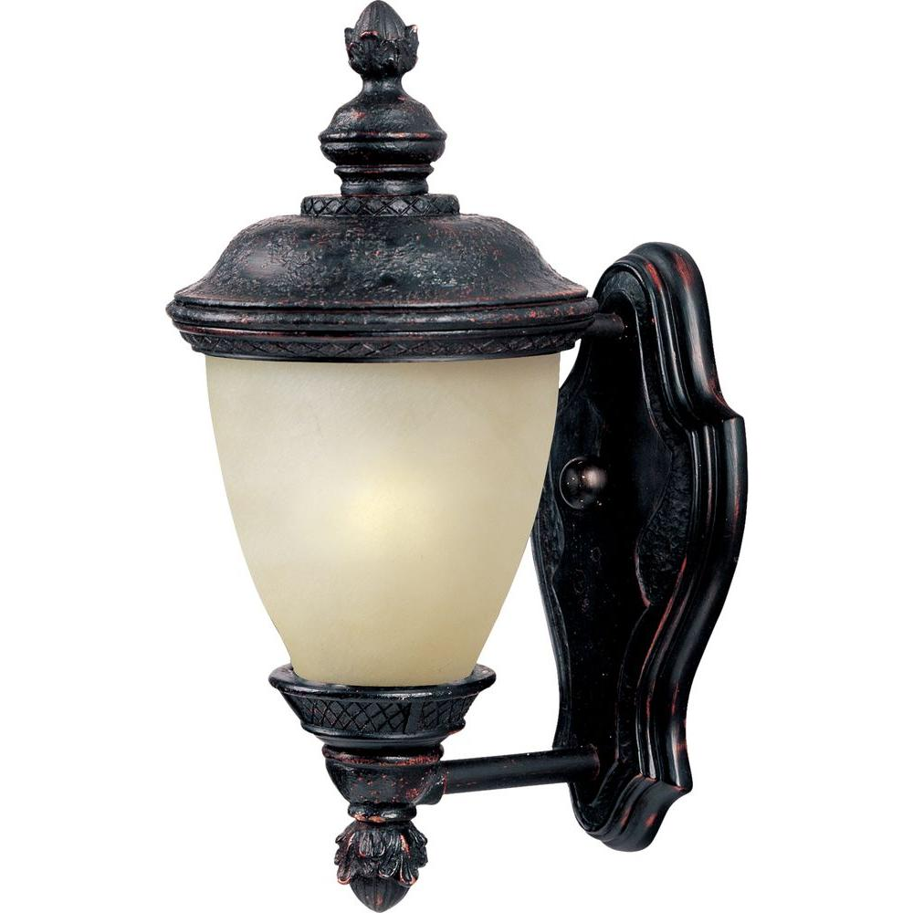 Carriage House Energy Efficient 1-Light Oriental Bronze Outdoor Wall Mount