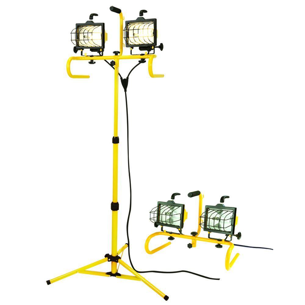 All-Pro 1000-Watt Quartz Halogen Stand Worklight with Quick Disconnect