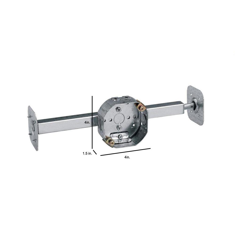 New Steel City 54151-CFB Pre-Galvanized Steel Octagon Ceiling Fan Support Box