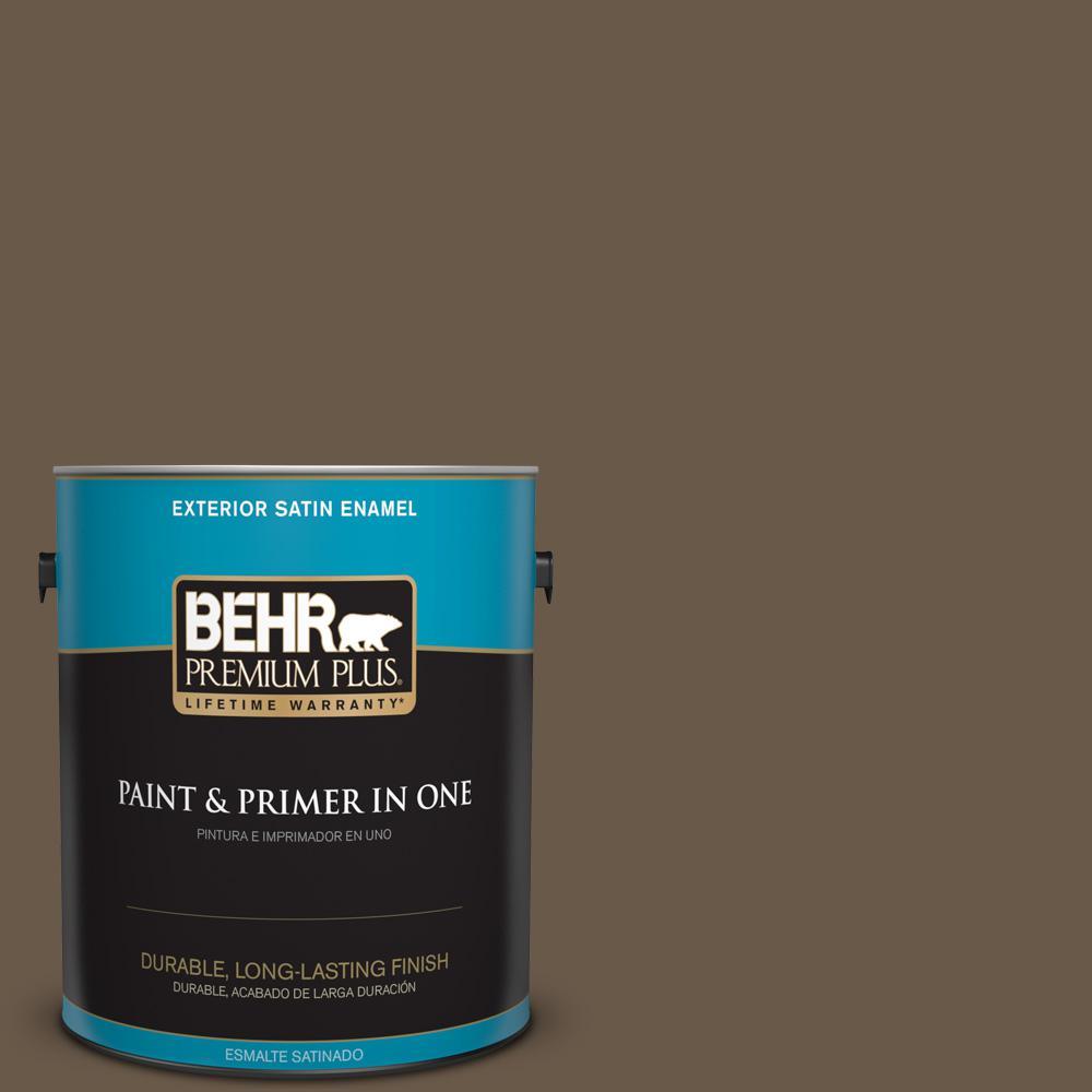 1 gal. #PPU7-25 Clove Brown Satin Enamel Exterior Paint
