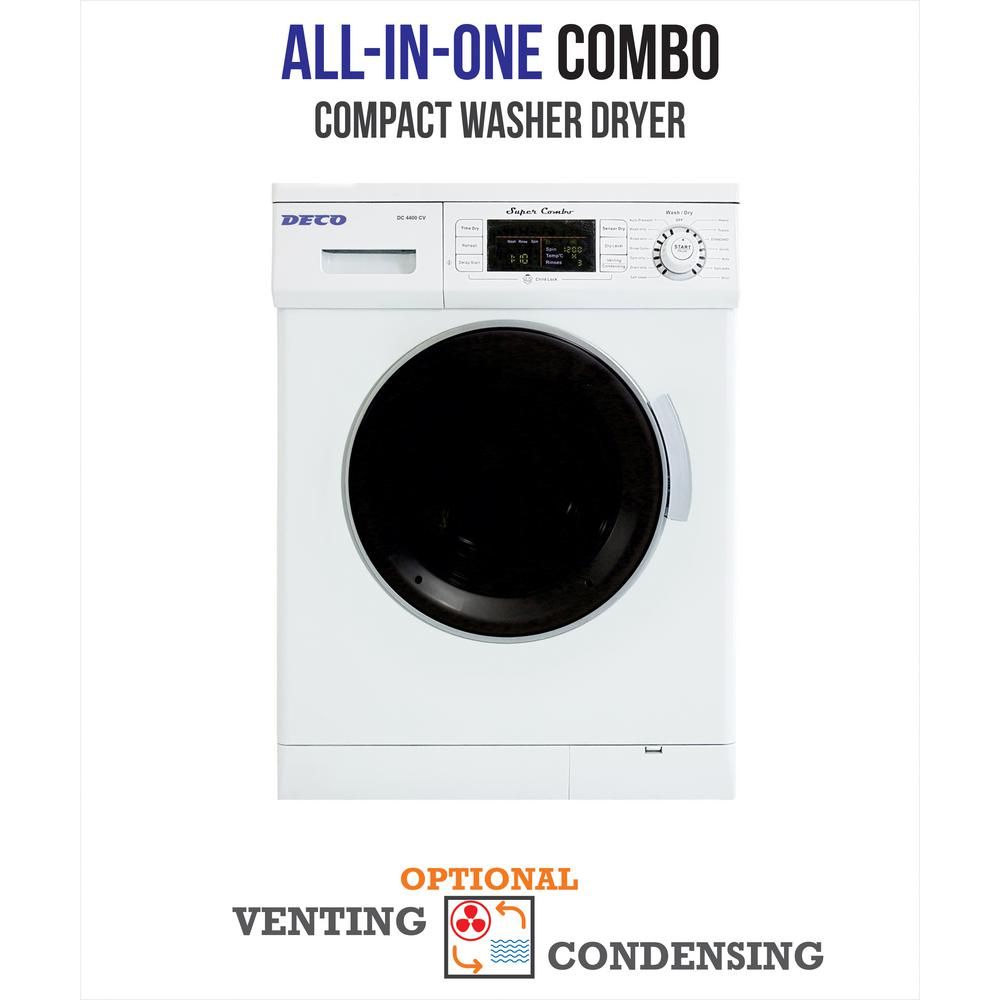 Deco All In One 1200 RPM Compact Combo Washer Dryer With Optional  Condensing/