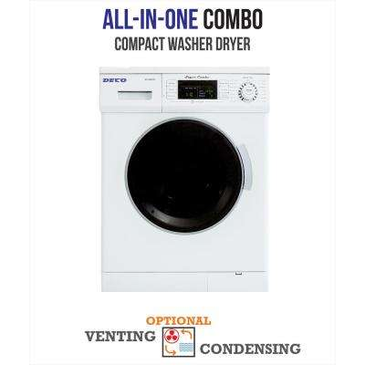 All-in-one 1200 RPM Compact Combo Washer Dryer with Optional Condensing/Venting and Sensor Dry in White