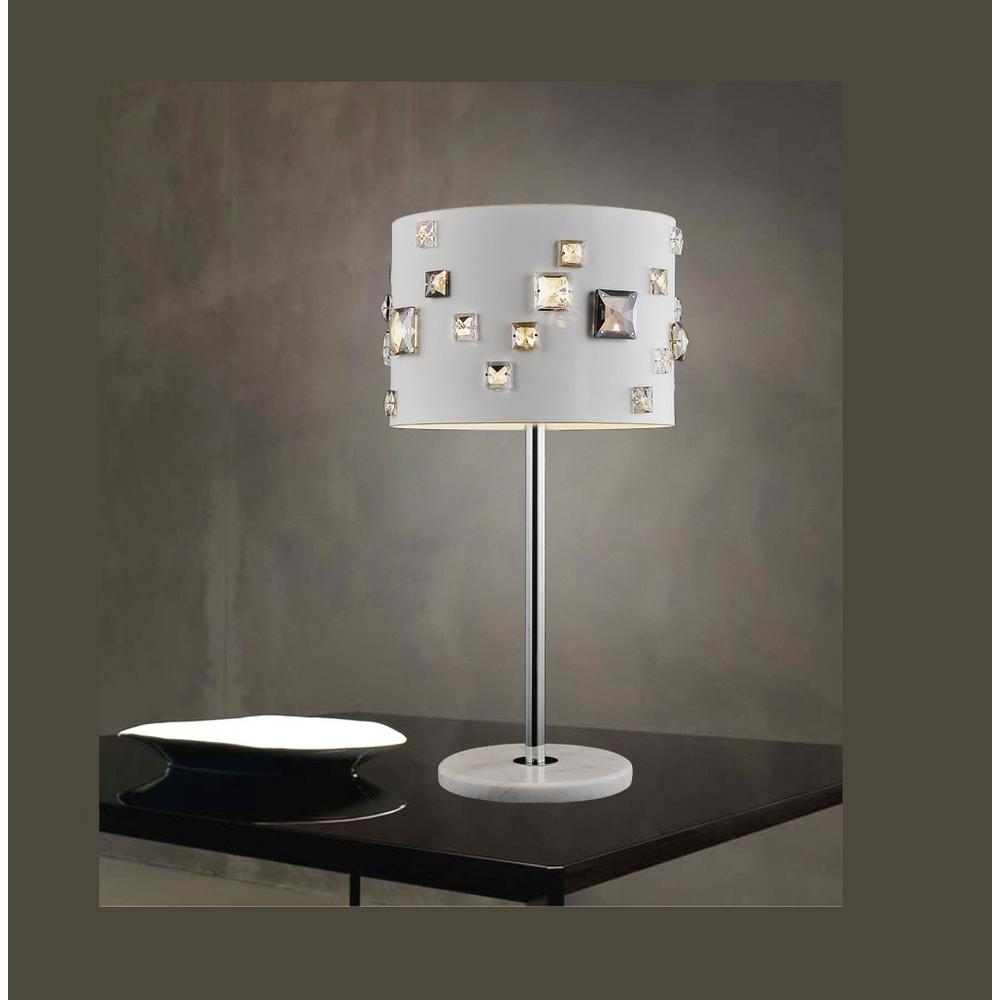 Crystal world shadow 19 in white table lamp with white shade white table lamp with white shade geotapseo Images