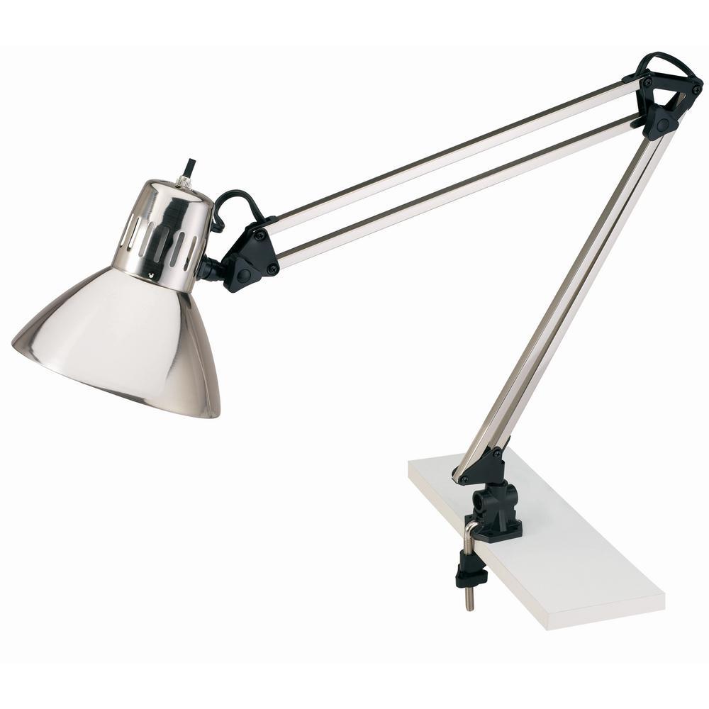 34 in. Chrome Indoor Swing Arm Lamp