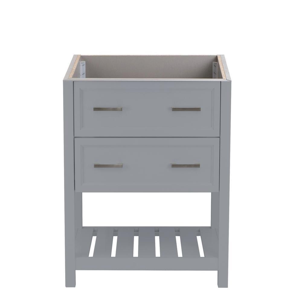 Milan 25 in. W x 19 in. D Bath Vanity Cabinet Only in Grey