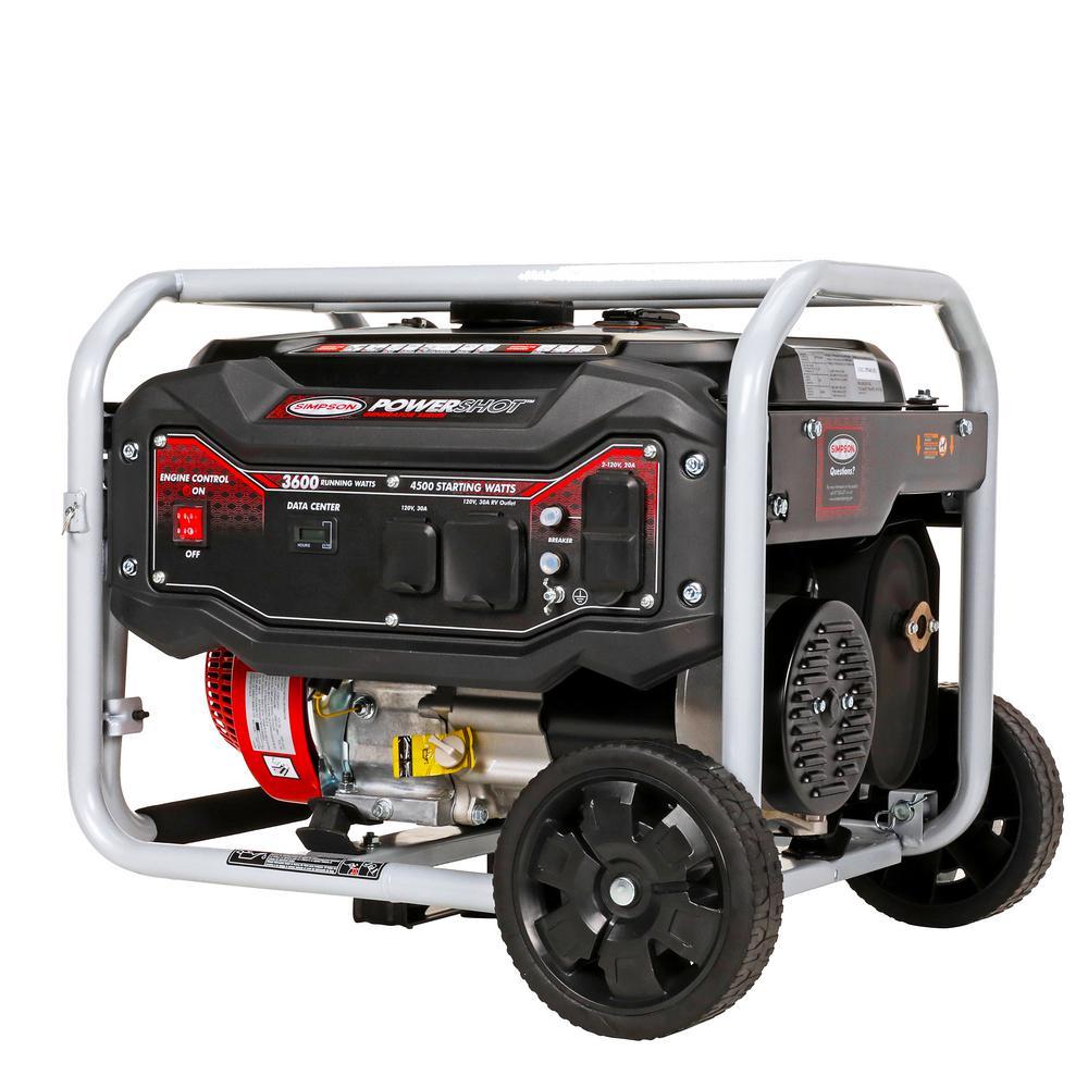 Simpson 3,600-Watt Gasoline Powered Portable Generator
